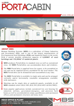 MBS Porta Cabin